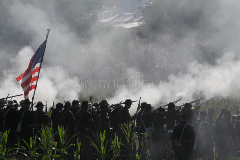 Bürgerkrieg-Schlachtfeld stockfoto