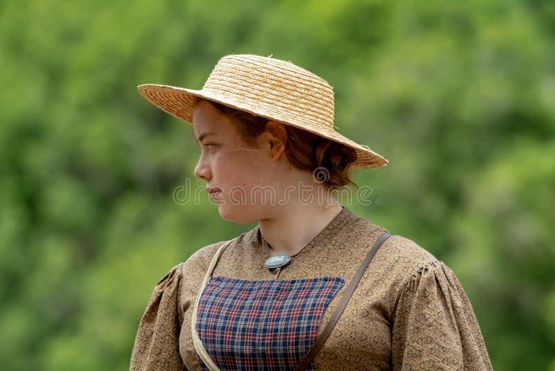 Bürgerkrieg wieder--enactement in Duncans-Mühlen, CA, USA lizenzfreie stockfotografie