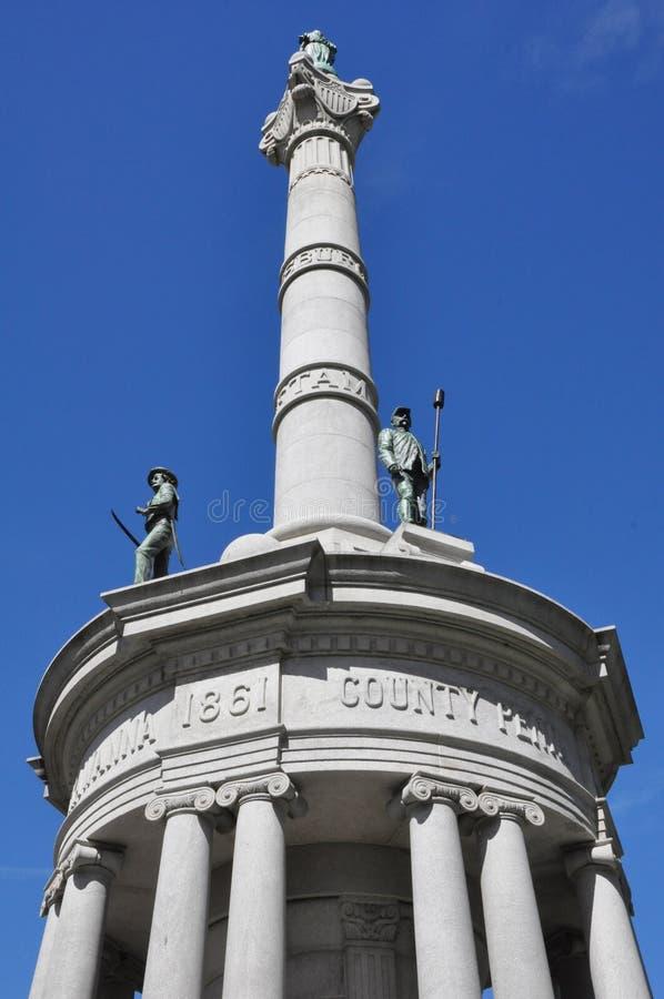 Bürgerkriegmonument, Lackawanna County Gericht, Scranton, Pennsylvania lizenzfreies stockfoto