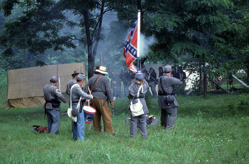 Bürgerkriegwiederinkraftsetzung lizenzfreies stockfoto