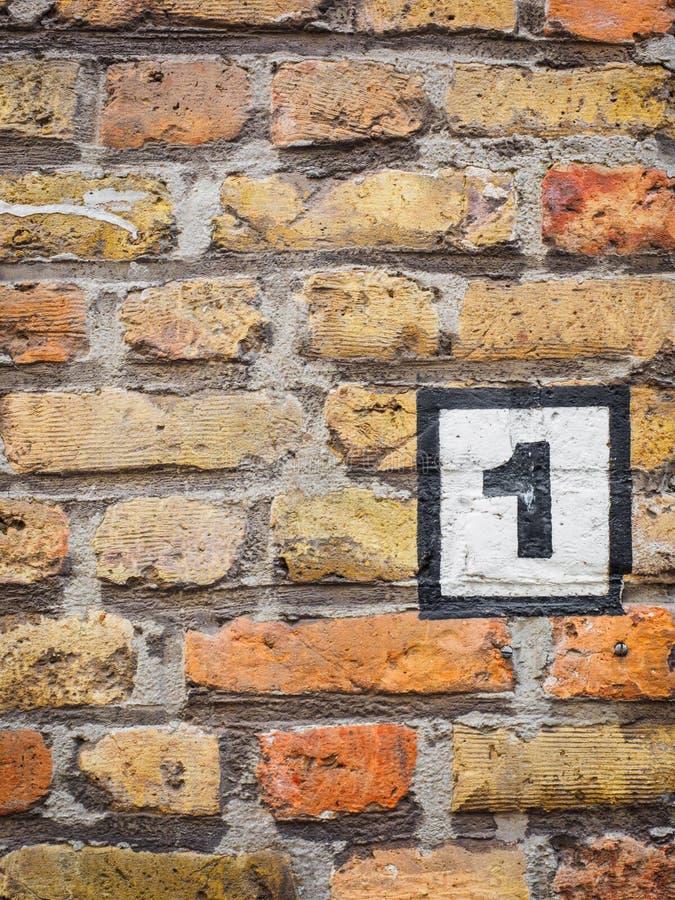 007-19 bürgerliches auf der Wand stockfoto