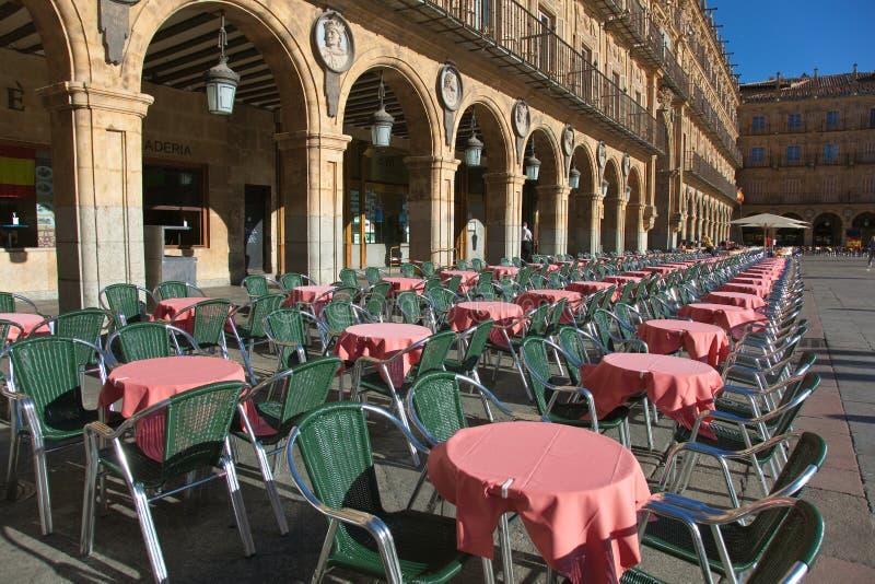 Bürgermeisterquadrat, Salamanca lizenzfreies stockbild