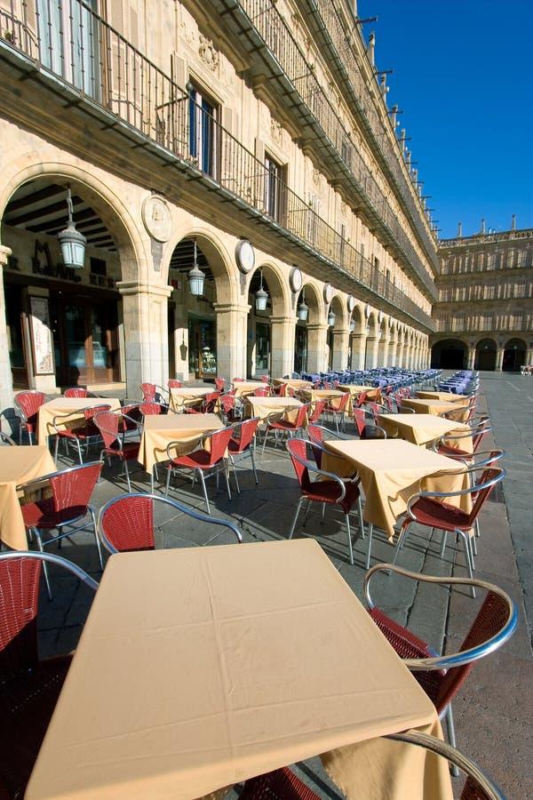 Bürgermeisterquadrat, Salamanca stockbilder