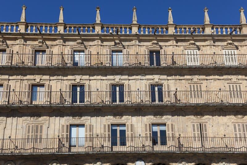 Bürgermeisterquadrat, Salamanca stockfotos