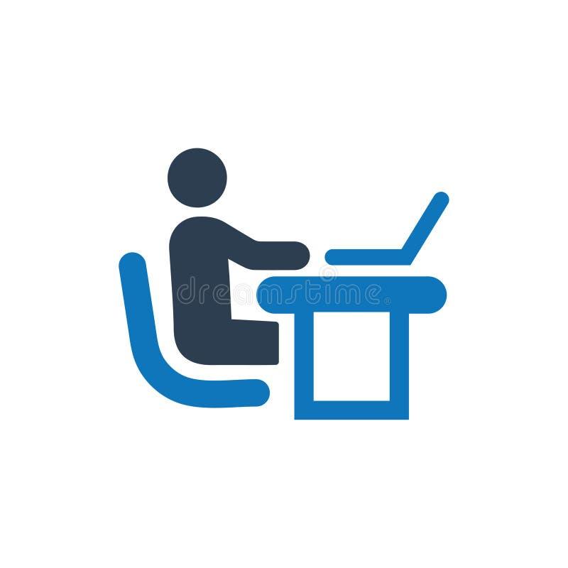 Büro-Arbeitsikone vektor abbildung