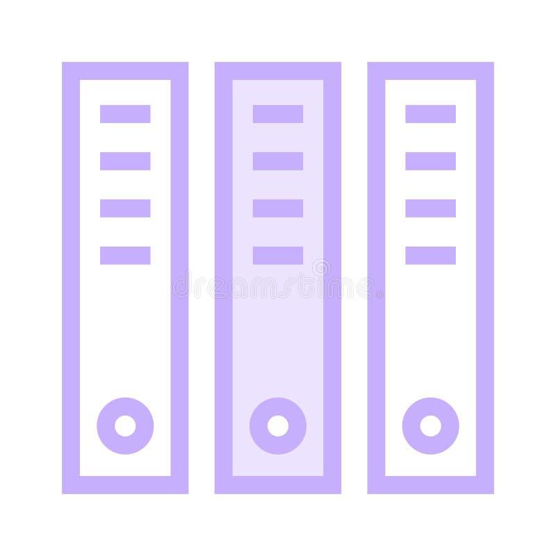 Büro archiviert Farblinieikone vektor abbildung