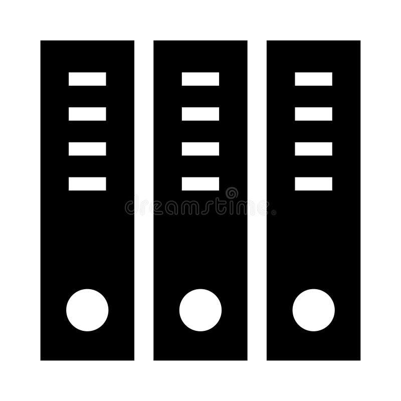 Büro archiviert Glyphsikone vektor abbildung