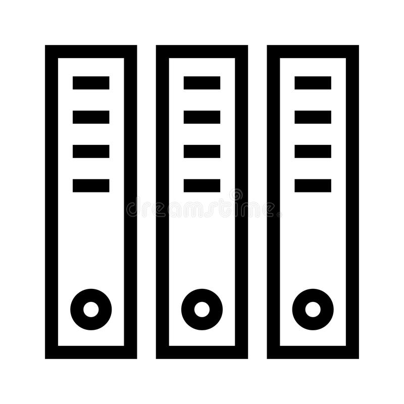 Büro archiviert Linie Ikone stock abbildung