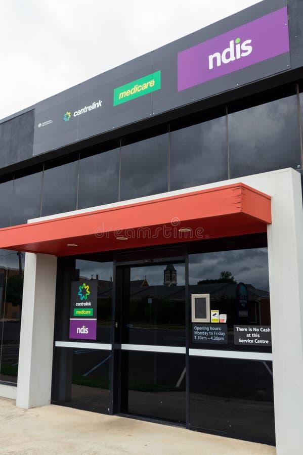 Büro Centrelink, Medicare und NDIS in Ararat in Australien lizenzfreie stockfotos