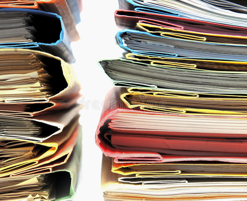 Büro-Dateien lizenzfreie stockfotos