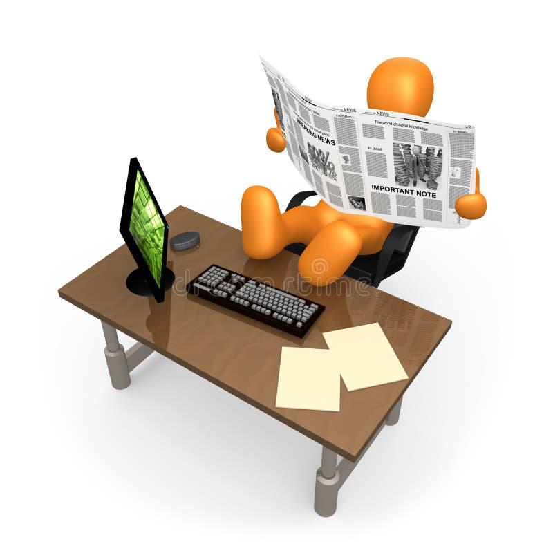 Büro-Entspannung lizenzfreie abbildung