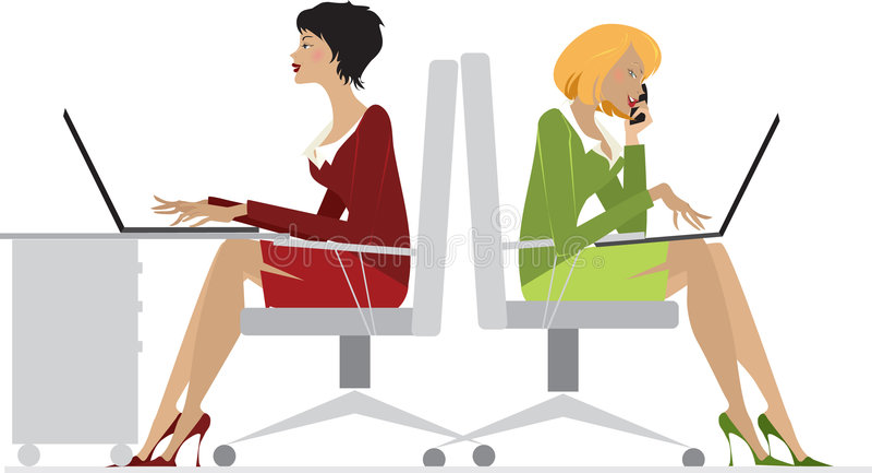 Büro-Frauen lizenzfreie abbildung