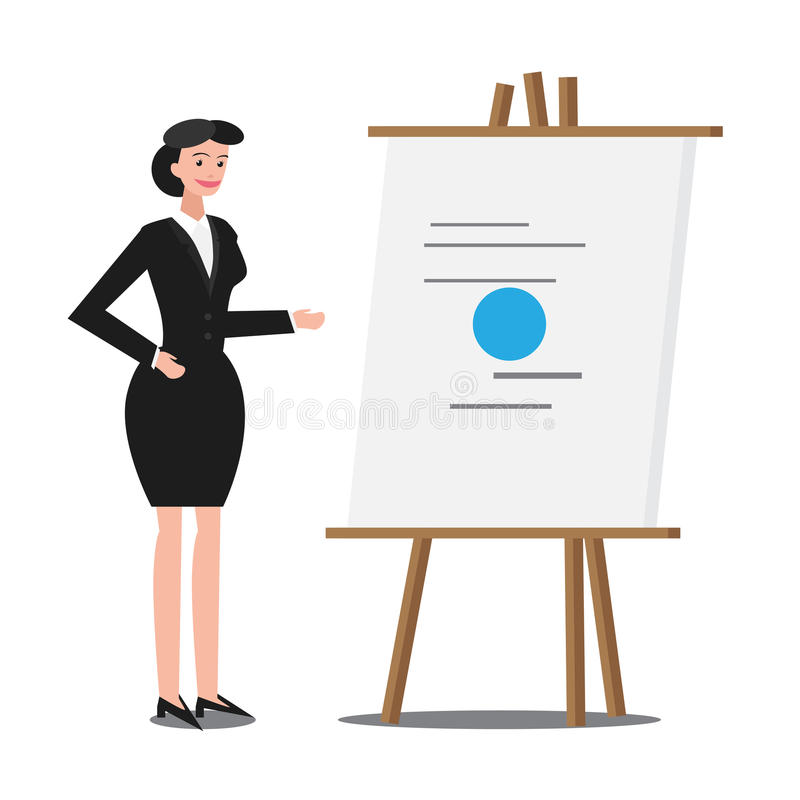 Büro-Frauen-Darstellung stockfoto
