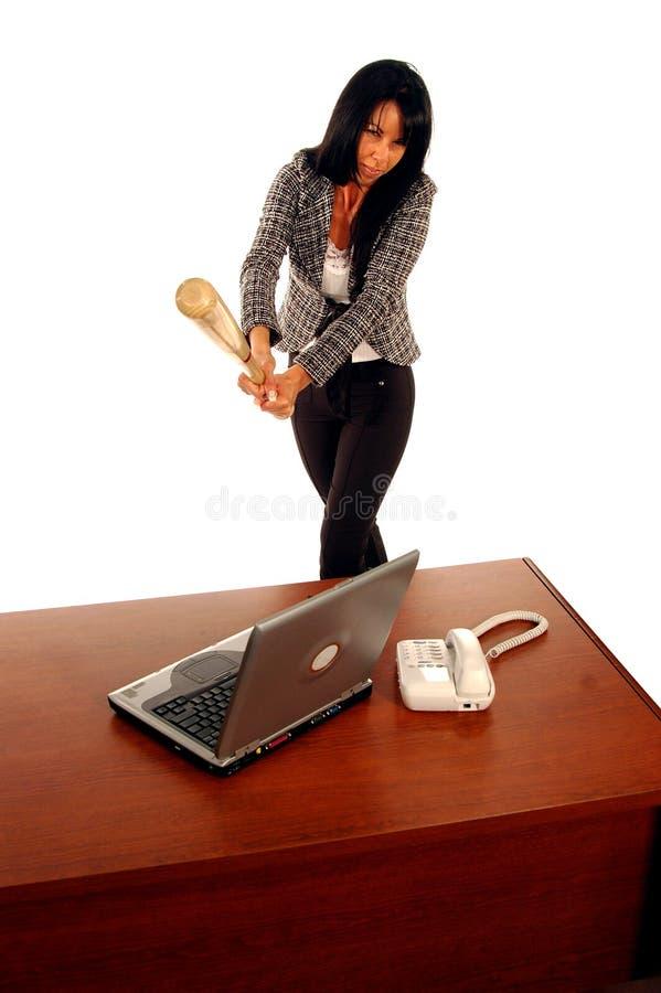Büro-Frustration 2 stockfotografie