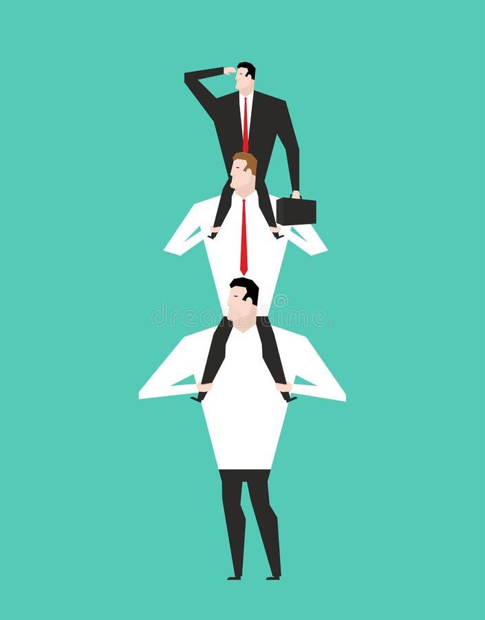 Büro-Hierarchie Geschäftspyramide Firmenstruktur Chef sitt vektor abbildung