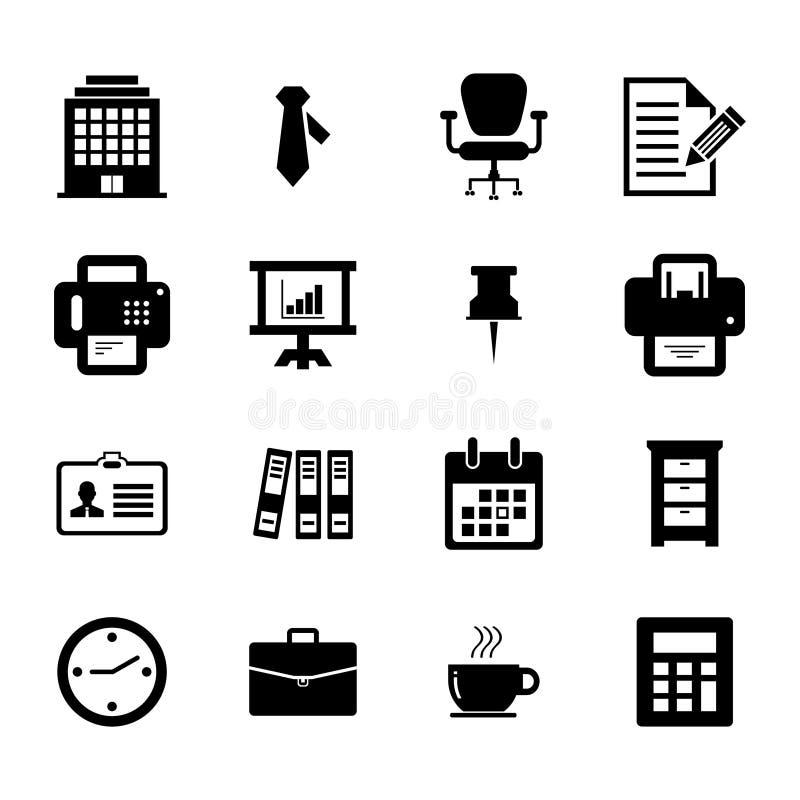 Büro-Ikone lizenzfreie abbildung