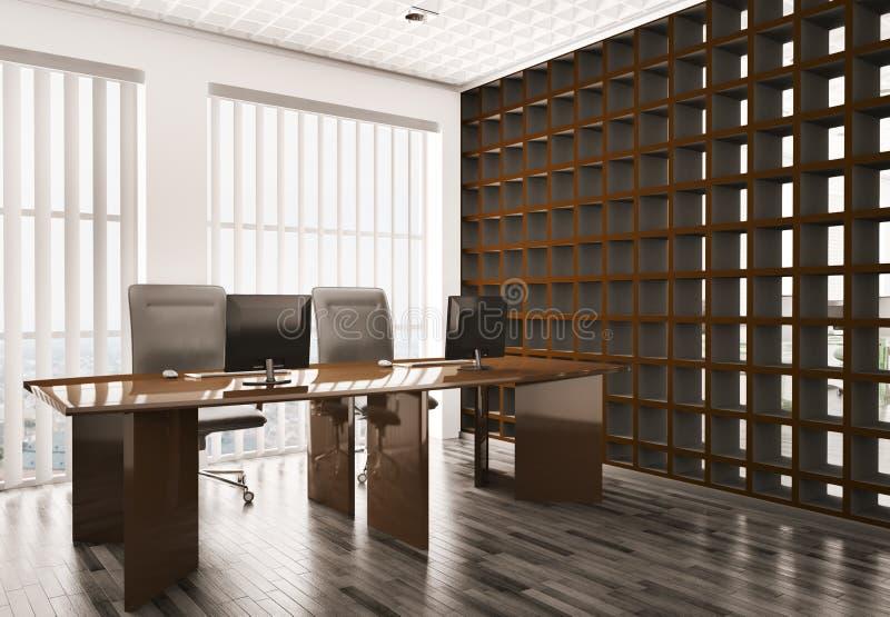 Büro Innen3d lizenzfreie abbildung