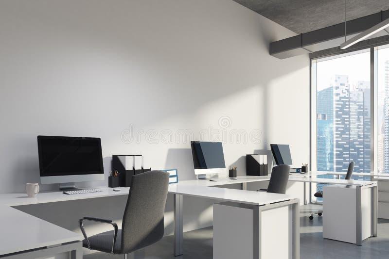 Büro-Innenraumabschluß des offenen Raumes oben lizenzfreie abbildung