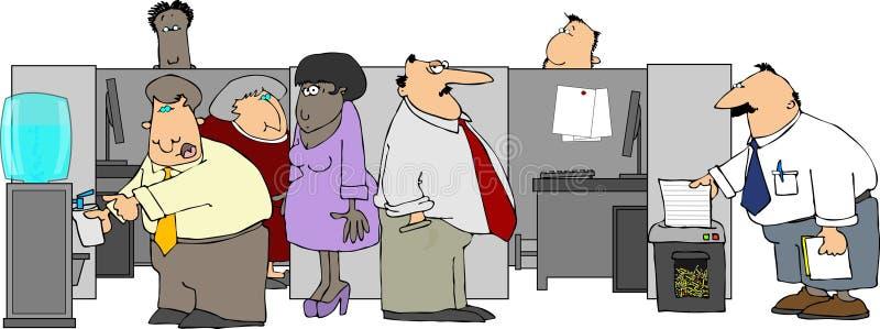 Büro-Klatsch stock abbildung
