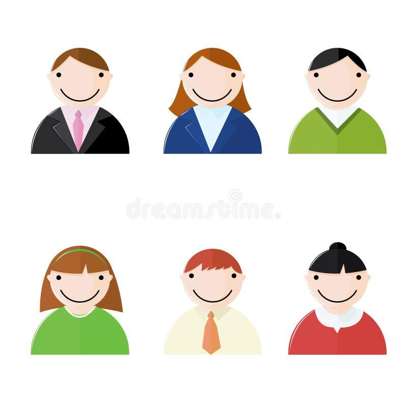 Büro-Leute-Ikonen lizenzfreie abbildung