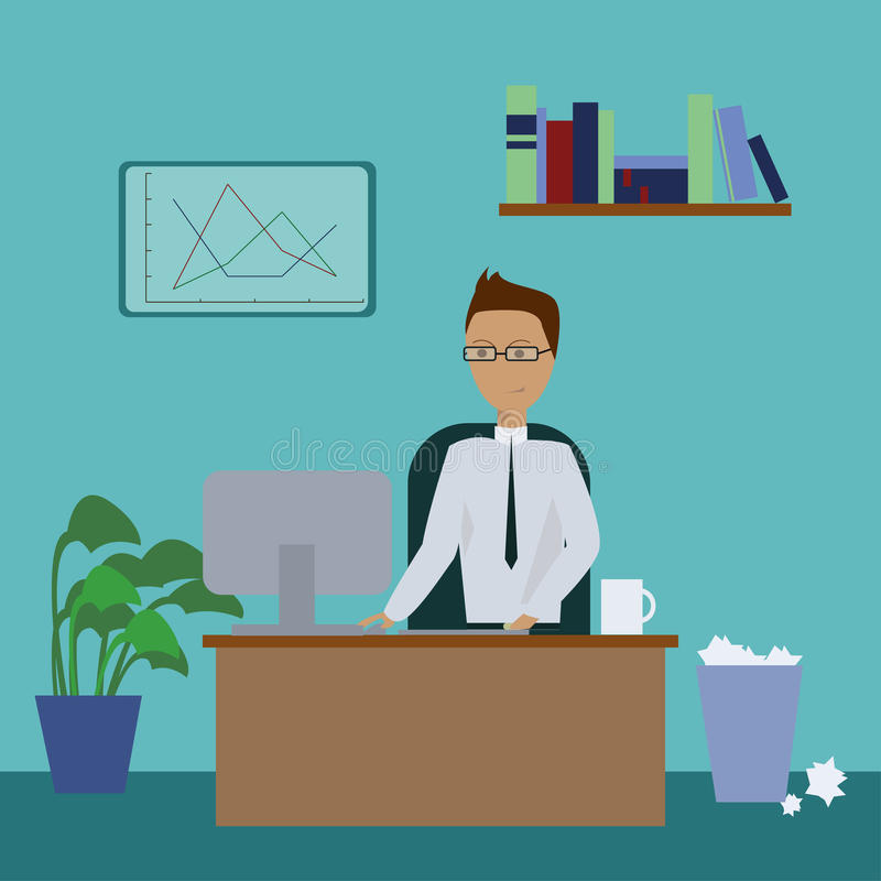 Büro Manager lizenzfreie abbildung