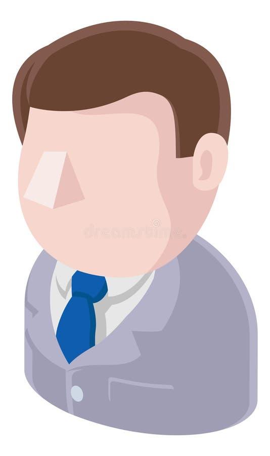 Büro-Mann-Avatara-Leute-Ikone lizenzfreie abbildung