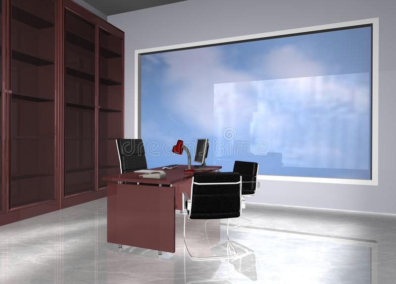 Büro modern lizenzfreie abbildung