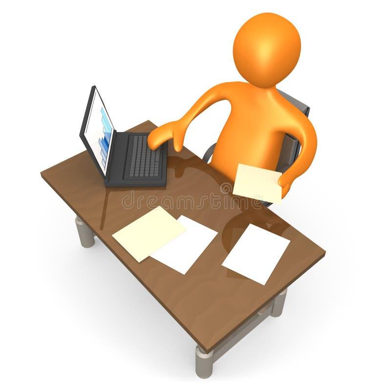 Büro-Moment lizenzfreie abbildung