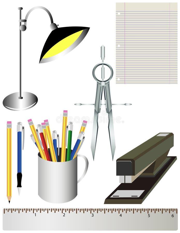 Büro-oder Schule-Zubehör vektor abbildung