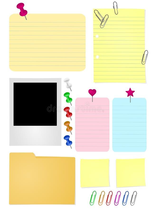 Büro-Papiere lizenzfreie abbildung
