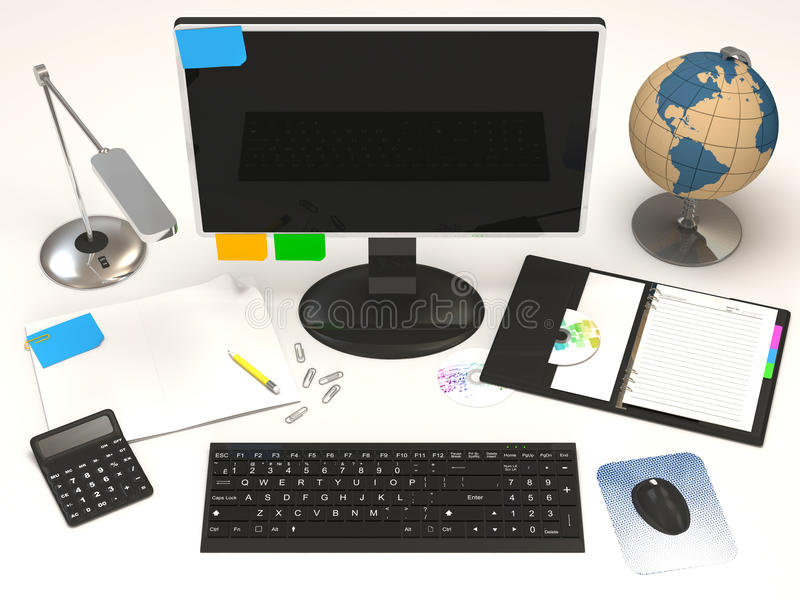 Büro-Schreibtisch vektor abbildung
