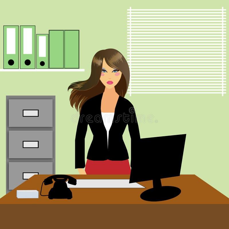 Büro-Sekretär oder Empfangsdame stock abbildung