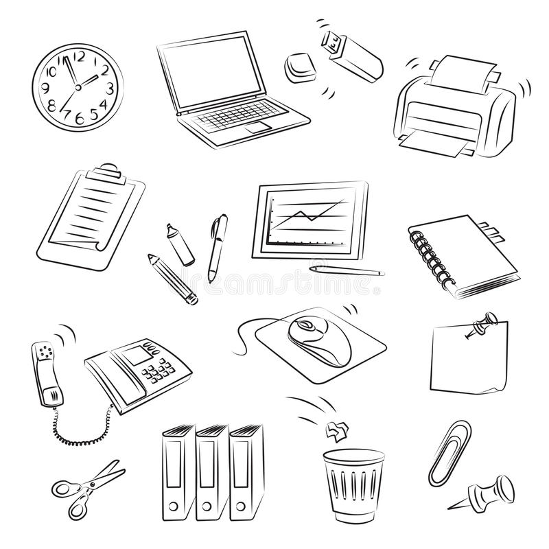 Büro-Set vektor abbildung