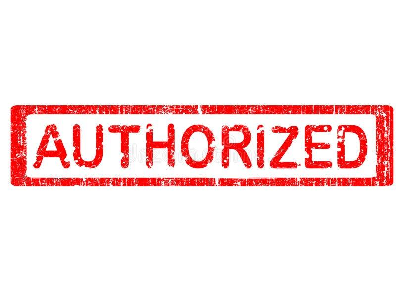 Büro-Stempel - AUTORISIERT lizenzfreie abbildung