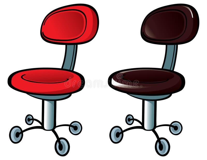 Büro-Stuhl lizenzfreie abbildung