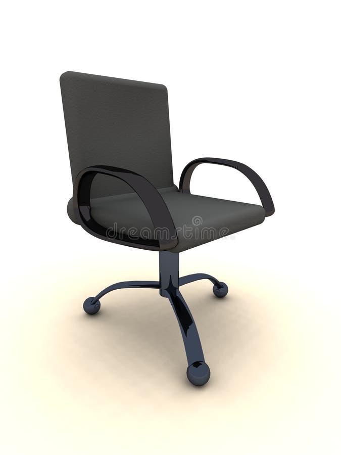 Büro-Stuhl - schwarzes Leder lizenzfreie abbildung