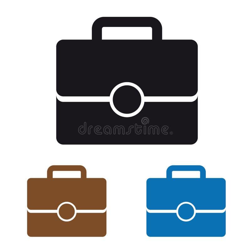 Büro-Taschen-Ikone - bunte Vektor-Illustration vektor abbildung