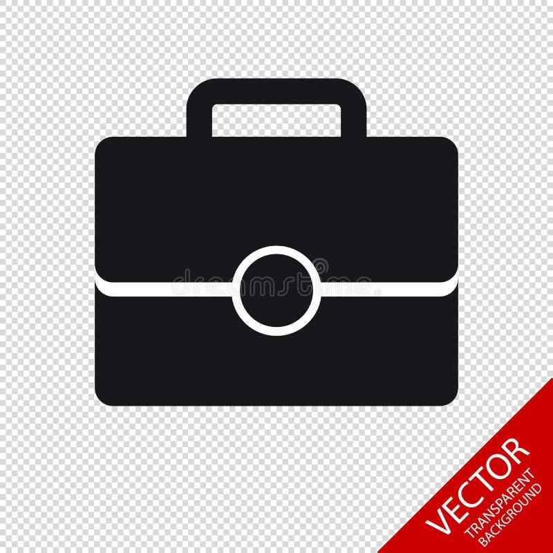 Büro-Taschen-Ikone - Vektor-Illustration - lokalisiert auf transparentem Hintergrund stock abbildung