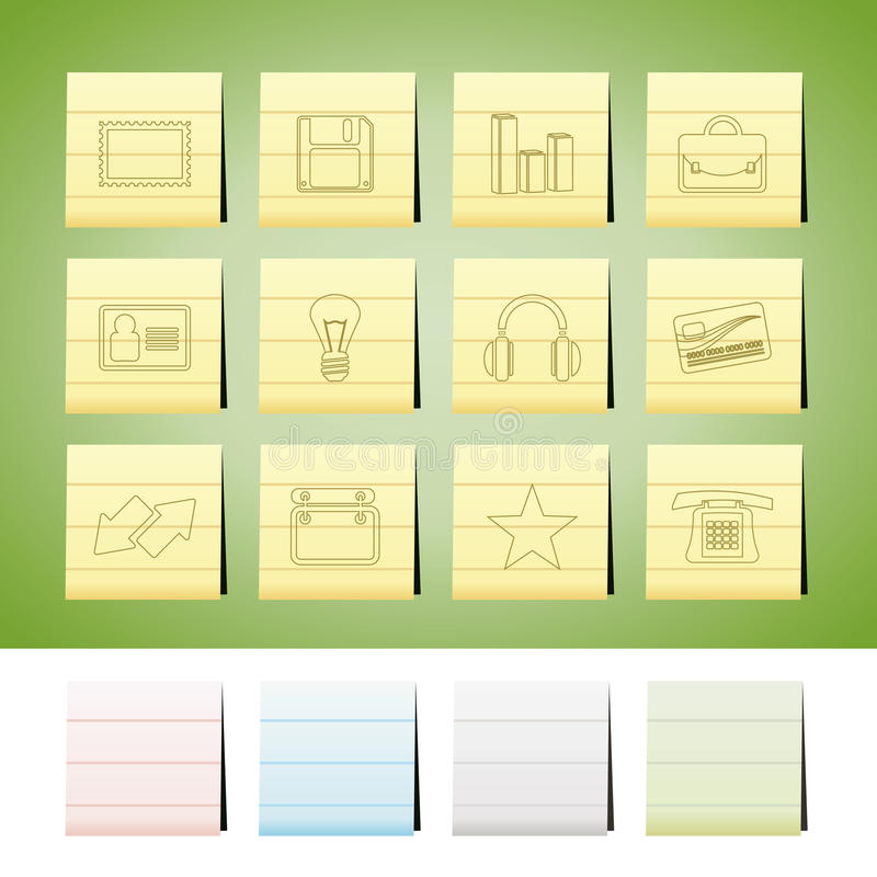 Büro- und Geschäftsikonen vektor abbildung