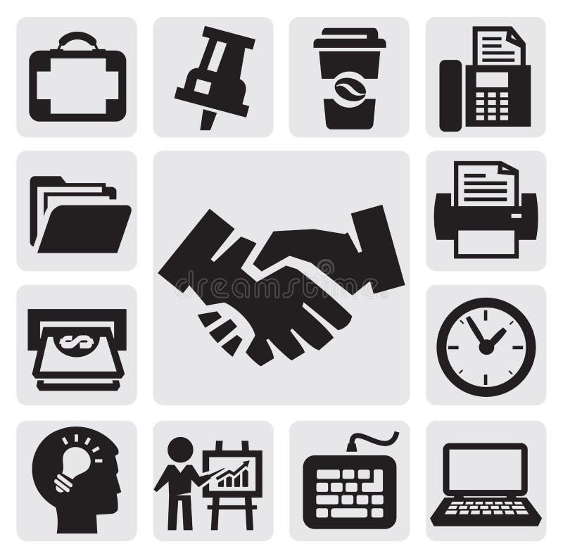 Büro- und Geschäftsikonen stock abbildung