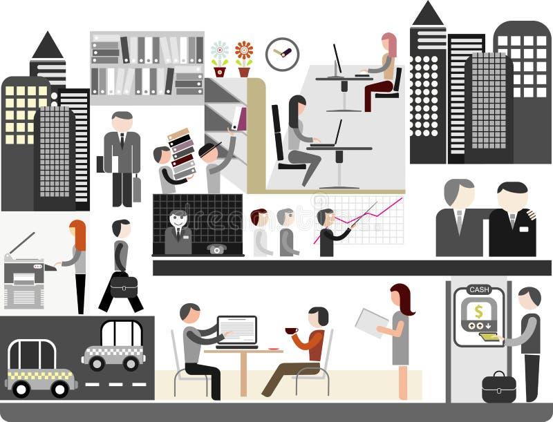 Büro - vektorabbildung lizenzfreie abbildung