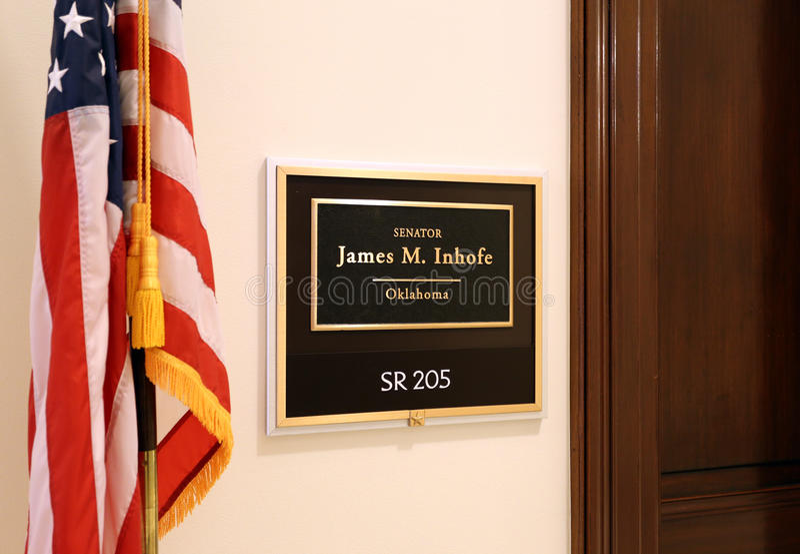 Büro von Senator James Inhofe Vereinigter Staaten lizenzfreie stockfotografie