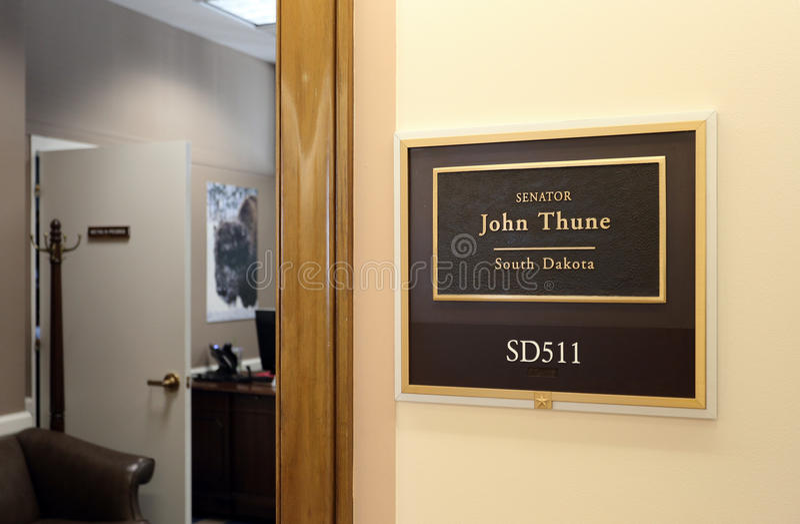 Büro von Senator John Thune Vereinigter Staaten stockbild