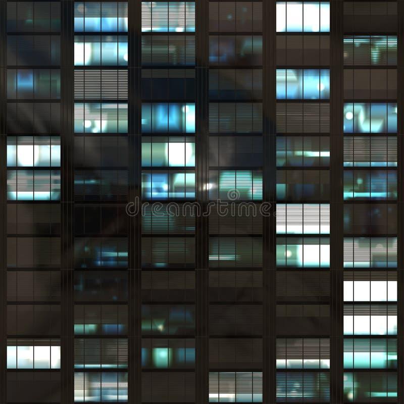 Büro-Wolkenkratzer-Windows-Auszug lizenzfreie abbildung