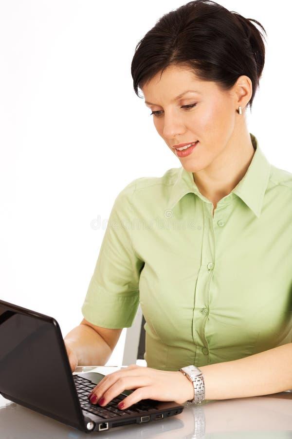 Büroangestellter über Weiß lizenzfreies stockbild
