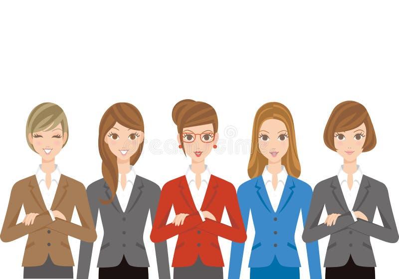 Büroangestelltsatz der Frau stock abbildung