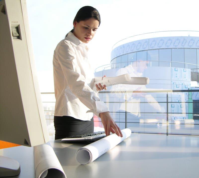 Büroarbeit lizenzfreie stockfotos