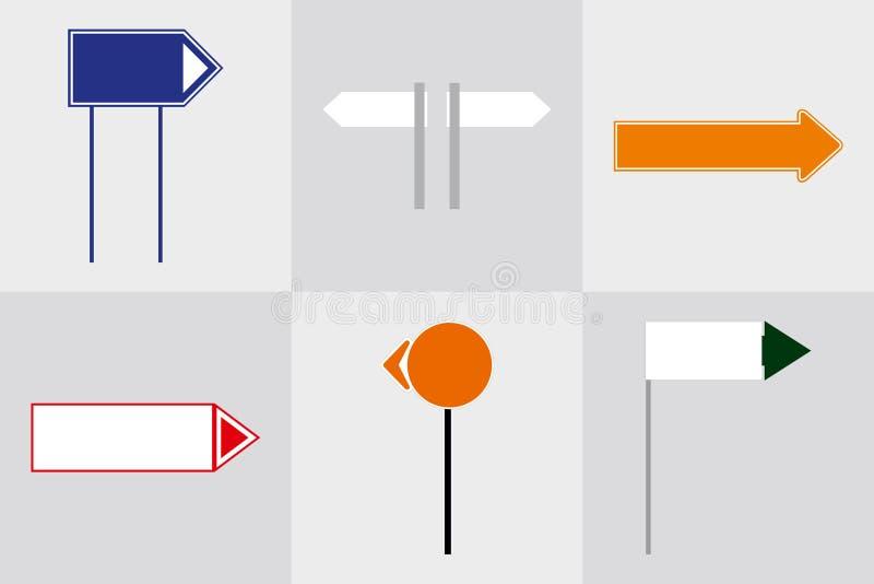 B?roau?enmonumentzeichenpylonzeichen Signage, der Bau annonciert Abbildung 3D stock abbildung