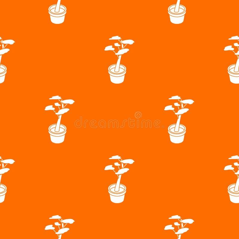 Büroblumenmuster-Vektororange lizenzfreie abbildung