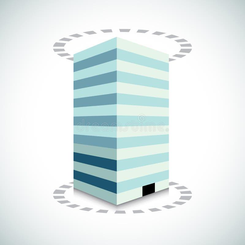 Bürogebäude 3d vektor abbildung